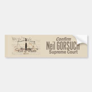 Neil GORSUCH Supreme Court Bumper Sticker
