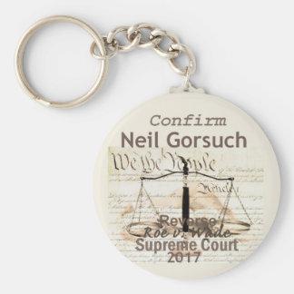 Neil GORSUCH Supreme Court Keychain