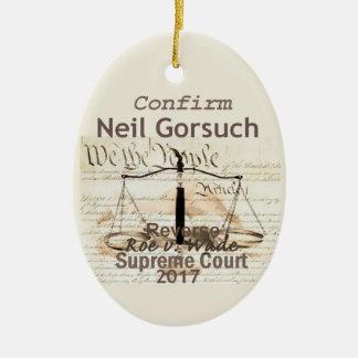 Neil GORSUCH Supreme Court Ornament