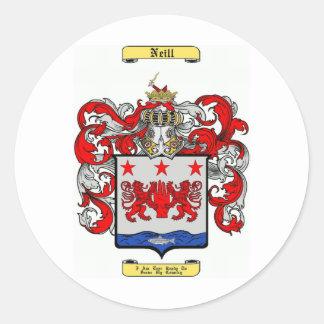 Neill Round Sticker