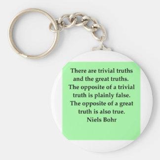neils bohr quotation basic round button keychain