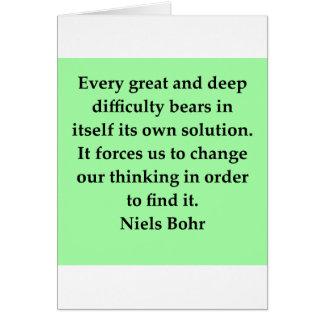neils bohr quotation card