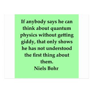 neils bohr quotation postcard