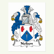 Neilson Family Crest Postcard