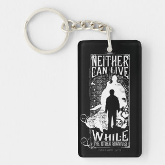 Neither Can Live Double-Sided Rectangular Acrylic Keychain