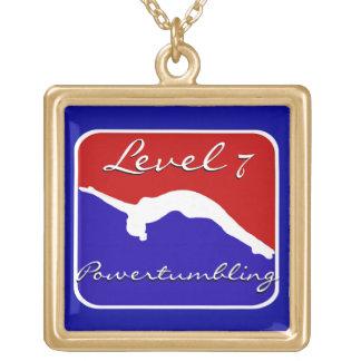 Neklace del final del oro del gimnasta de Powertum Collar Personalizado