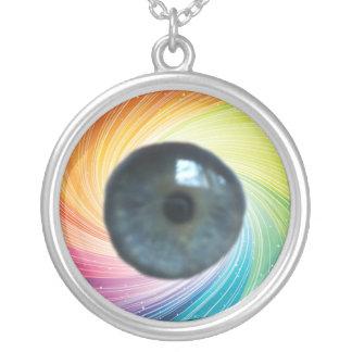 ¡neklace del globo del ojo! colgante redondo