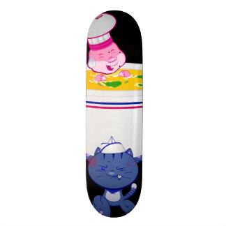 Neko and Usagi™ Black Skateboard Deck