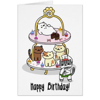 Neko Atsume - Birthday! Card