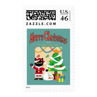 Neko Christmas Stamp