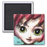 Neko Girl 1, Colourful Fantasy Art, Magnet Refrigerator Magnets