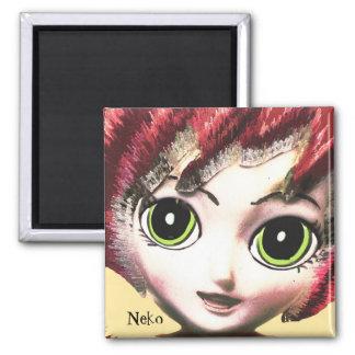 Neko Girl 2, Colourful Fantasy Art, Magnet Refrigerator Magnet