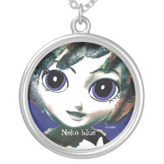 Neko Girl Blue, womens Girls' Necklace Necklace