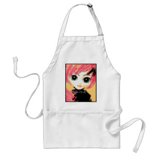 Neko Girl, Candy, Crafting Apron in Clean White Aprons