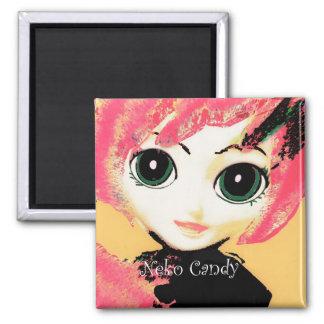 Neko Girl, Candy, fridge magnet templates Magnet