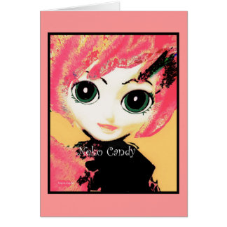 Neko Girl, Candy, greeting cards party invitations Greeting Cards