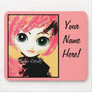 Neko Girl, Candy, mousepad, customizable  template Mousepads