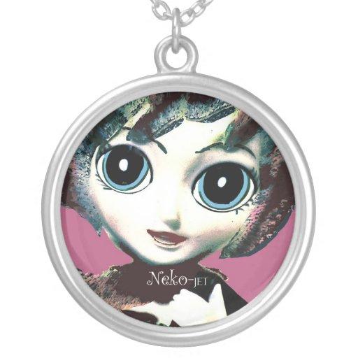 Neko Girl, Jet! Pretty Womens' Girls' Necklace Necklace