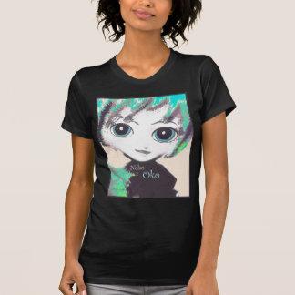 Neko Girl, Oko Fairy, stylish fit, Black t-shirts T Shirt