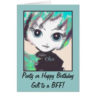 Neko Girl, Oko, Greeting Cards Notecards Card