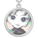 Neko Girl, Oko! Pretty Womens' Girls' Necklace Personalized Necklace