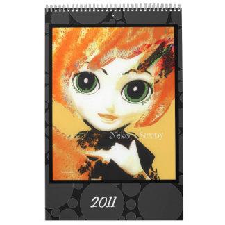 Neko Girls, Colourful & Fun Kids' Calendar