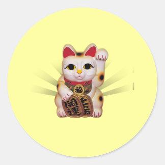 Neko: Good Luck Neko Classic Round Sticker