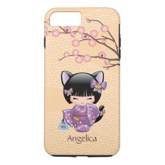 Neko Kokeshi Doll - Cat Ears Geisha Girl iPhone 8 Plus/7 Plus Case