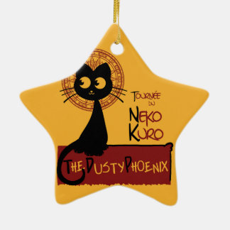 Neko Kuro Ceramic Ornament
