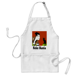 Neko MAnia Black Cat Adult Apron