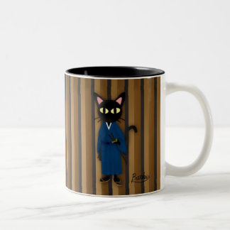 Neko Zamurai Two-Tone Coffee Mug