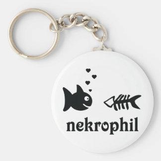 nekrophil fish icon basic round button keychain