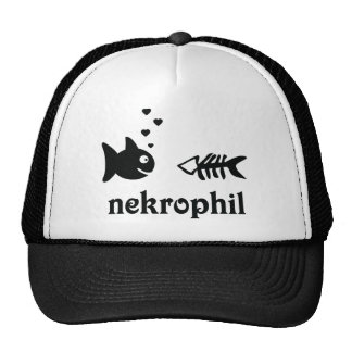 nekrophil fish icon mesh hat