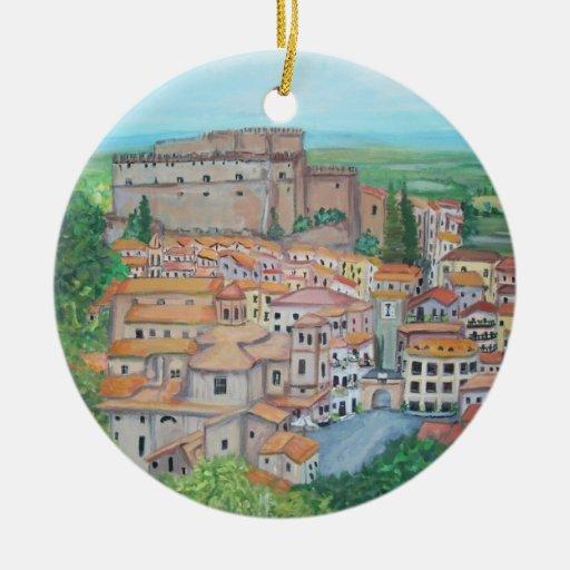 Nel Cimino, ornamento de Soriano de Italia Ornamento De Navidad