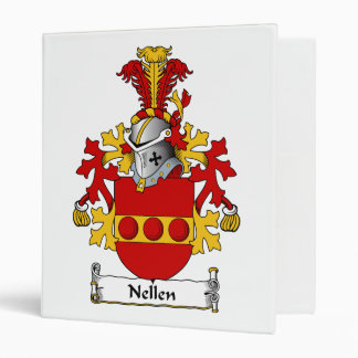 Nellen Family Crest 3 Ring Binders