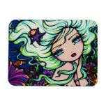 """Nelli"" Tropical Mermaid Fantasy Art Hannah Lynn Rectangular Photo Magnet"