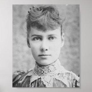 Nellie Bly - periodista americano temprano - impre Póster