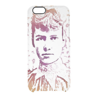 Nellie Bly Pop Art Portrait Clear iPhone 6/6S Case