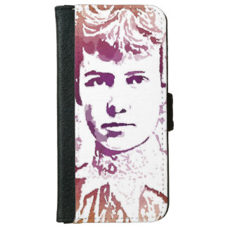 Nellie Bly Pop Art Portrait iPhone 6/6s Wallet Case