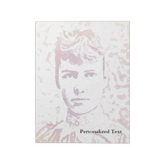 Nellie Bly Pop Art Portrait Notepad