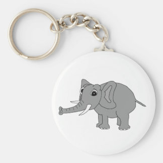 """""""Nellie"""" el elefante (blanco y negro) Llavero Personalizado"""