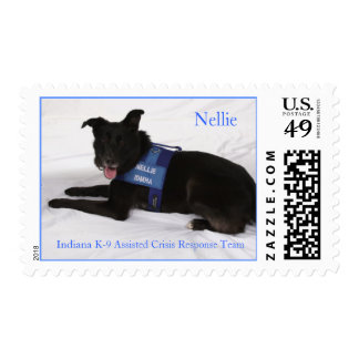 Nellie laying down, Nellie, Indiana K-9 Assiste... Postage
