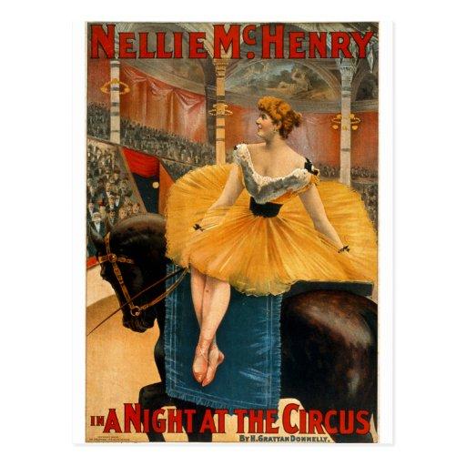 Nellie McHenry en noche de A en el circo Tarjetas Postales