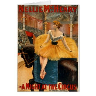 Nellie McHenry in A night at the Circus card