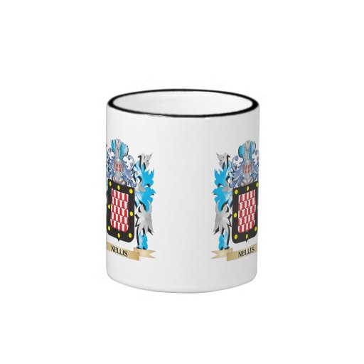 Nellis Coat of Arms - Family Crest Mugs