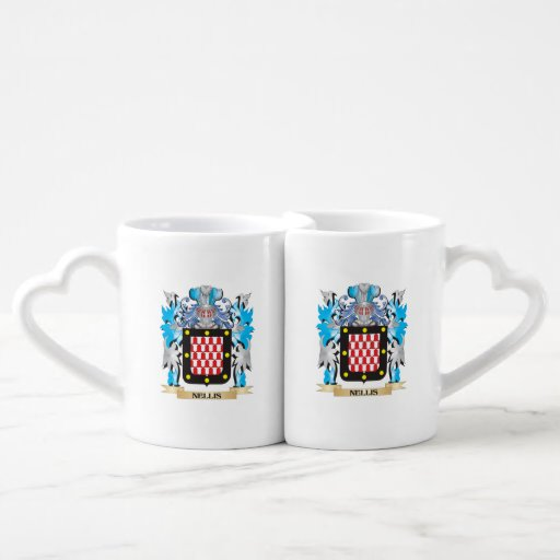 Nellis Coat of Arms - Family Crest Couple Mugs