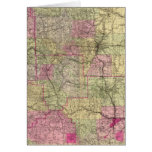 Nell's Topographical Map of Colorado Greeting Card