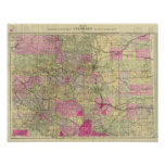 Nell's Topographical Map of Colorado Poster
