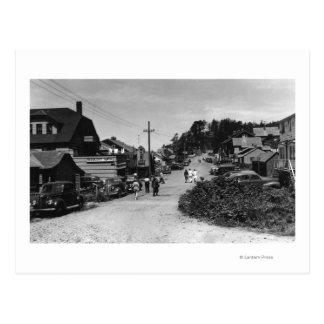 Nelscott, Oregon Town View Ocean Front Cottages Postcard