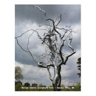Nelson Atkins Sculpture Park Metal Tree # 2 Postcard